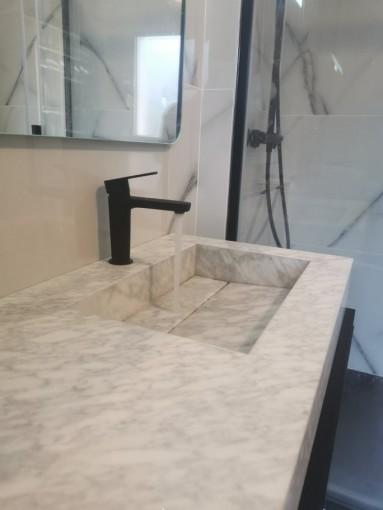 Salle de bain - Marbre - Vasque - Ker Gafa